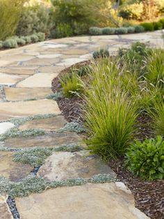 slate and pea gravel
