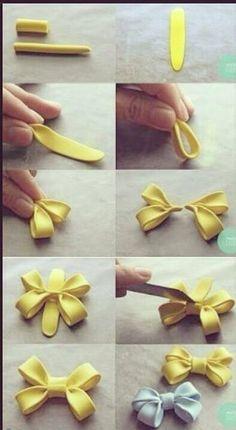 Cute double fondant bow tutorial