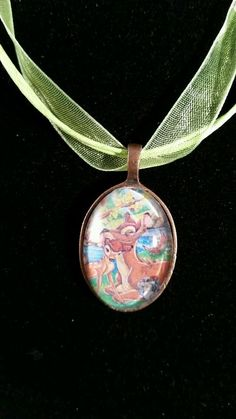 Bambi and his Mom ♡♡handmade necklace ♡♡Disney ♡♡precious in Jewelry & Watches   eBay