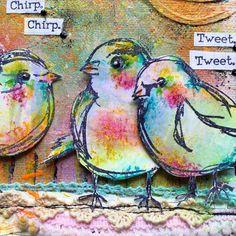 #sneekpeek - loooooves these scribbly birdies & loooooves layering…