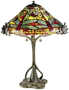Dale Tiffany 0051 Floral Dragonfly Table Lamp, Antique Bronze and Art Glass Shade Dale Tiffany Lamps http://www.amazon.com/dp/B004DI5U6Y/ref=cm_sw_r_pi_dp_izB6tb085NYT2