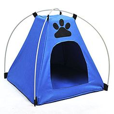 Small Dog Bed - Dingang Newest Foldable Pet Kitten Cat Puppy Dog Mini Nylon waterproof Camp Tent Bed Play House Outdoor house * To learn more, visit image link. (This is an affiliate link). Dog Tent Bed, Cat Tent, Dog Beds, Playhouse Outdoor, Dog Cages, Dog Car Seats, Cat Accessories, Dog Carrier, Doge