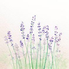 """""""라벤더 엽서 #라벤더 #꽃그림 #손그림엽서 #일러스트 #수채화 #복고풍로맨스 #페인팅 #picture #painting #watercolor #illustration #lavender #flower #postcard #artwork"""""""