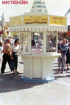 stuff from the park: Fantasyland Central Ticket Booth : *m. stuff from the park: Fantasyland Central Ticket Booth Disneyland World, Disneyland Photos, Vintage Disneyland, Disneyland California, Disneyland Resort, Disneyland History, Disney Cast, Old Disney, Disney Fun