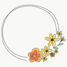 how do html color codes work Doodle Drawings, Doodle Art, Doodle Frames, Flower Wreath Illustration, Heart Shaped Hands, Floral Doodle, Wreath Drawing, Cute Frames, Free Hand Drawing