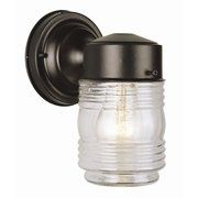 outdoor jelly jar wall sconce