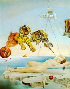 Dream Caused by the Flight of a Bee  around a Pomegranate a Second Before Awakening