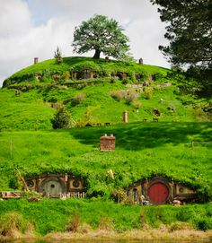 The famous rolling hills of Matamata – where Hobbiton was filmed in The Lord of the Rings trilogy and the upcoming The Hobbit film. Image by Ian Brodie c/o Tourism New Zealand
