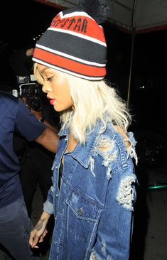 ripped denim - Rihanna New Blog Post http://www.steelemystyle.com/2012/08/06/spotted-ripped-torn-denim/