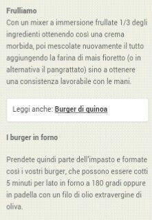 Burger di tofu.