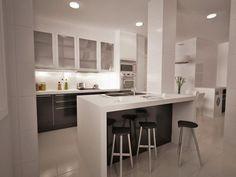 Cocina con isla Kitchen Cabinet Design, Modern Kitchen Design, Kitchen Reno, Home Decor Kitchen, Kitchen Interior, New Kitchen, Kitchen Remodel, Kitchen Ideas, Grey Kitchens
