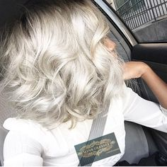 BOMB!!!! Our #KhaleesiWhite #hair from our #50ShadesOfGrey Collection colored…