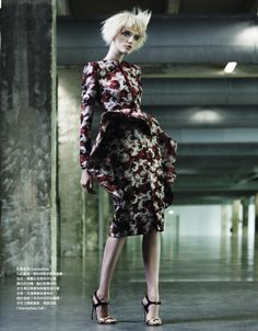 couture art: vlada roslyakova by naomi yang for vogue taiwan october 2012