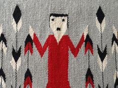 Navajo Rug 425 OBO 1960s Yei Excellent Condition by CharmingRetro
