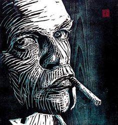 woodcut by Dirk Hagner