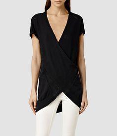 Womens Twist Sleeveless (Black) - product_image_alt_text_1