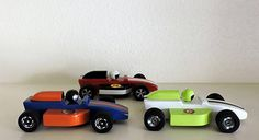 Wooden toy cars set of three indy race cars