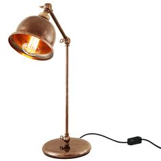 This handmade industrial style table lamp works perfectly in minimalist or industrial style interiors.