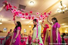 Mehndi party bride traditions in Atlanta, Georgia Indian Wedding by Jamie Howell Photography Wedding Pics, Trendy Wedding, Wedding Bride, Wedding Wear, Wedding Mandap, Wedding Dresses, Desi Wedding Decor, Indian Wedding Decorations, Muslim Wedding Ceremony