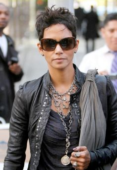 Halle Berry on the go with a pair of Ralph Sunglasses by Ralph Lauren RA5138 510/13. The perfect go to glasses for people with Oval shaped faces <3