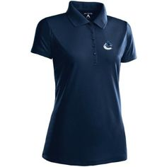 Antigua Women's Vancouver Canucks Pique Xtra-Lite Desert Dry Polo Medium