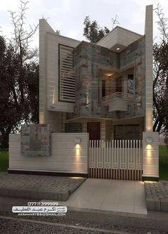 Modern home design Bungalow House Design, House Front Design, Small House Design, Modern House Design, Architecture Antique, Architecture Design, Chalet Modern, House Elevation, Facade House