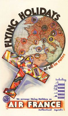 Holz, Flying Holidays (Air France), 1936