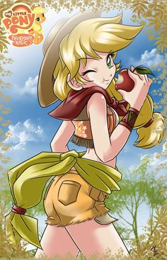 Applejack human my little pony friendship is magic