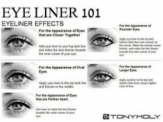 Enhance your eyes with these basic eyeliner techniques.