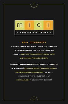 Mici Italian community board graphics by Watermark! #watermark #watermarkadvertising #largescalegraphics #largescaleadvertising #graphicdesign #marketingdesign #restaurantgraphics #restaurantmarketing #italianfood #marketing #advertising