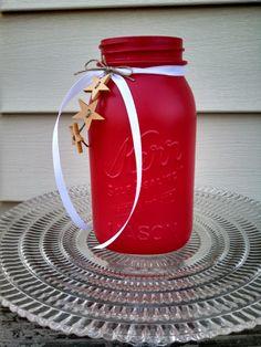 Americana Mason Jar! by ToastyBarkerBoutique on Etsy