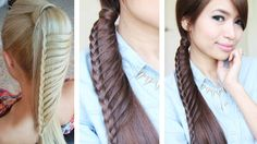 Ladder Braid Ponytail Hairstyle for Medium Long Hair Tutorial
