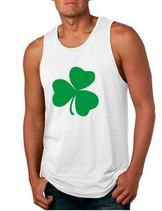 Men's Tank Top Green Shamrock Graphic St Patrick's Day Top #stpatricksday #irish #shamrock #irishpride #tanktop
