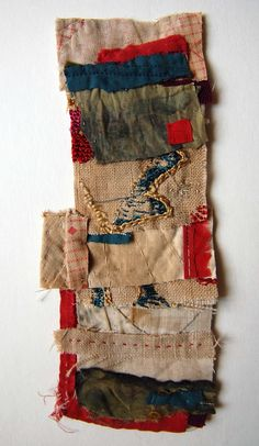 Mandy Pattullo: A small collage using scraps left over from a bigger on going quilt project.