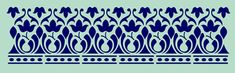 Indian Stencils : Blue Lace Border