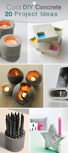 Cool DIY Concrete Project Ideas!