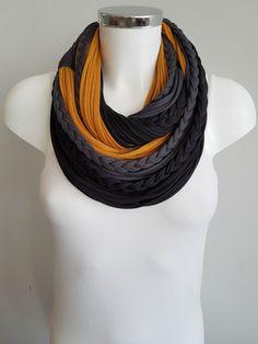 Bufanda Infinity bufanda negra círculo de la bufanda