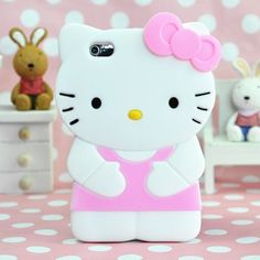 Pink 3D Cat iPod 4 Case Silicone Cover for iPod Touch 4 - iPod touch 4 Cases - iPod Cases