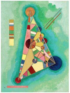 Wassily Kandinsky (1866-1944), « Bunt im Dreieck », 1927, estimation: 1,2 à 1,8 million d'euros; Vente Sotheby's Paris, 4 décembre 2013