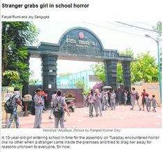 """""""Stranger grabs girl in school horror.!!!! Security camera at school helps to ensure smooth functioning and capturing wrong moves. The intruders are caught red handed on security camera for safety. snip.ly/1uypl"""