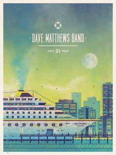 La bellezza dei poster del rock - Dave Matthews Band, 21 maggio 2012, West Palm Beach (Florida)