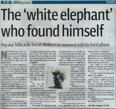 """""""Mika Making It His Way Now"""" - Manchester Evening News - English - Dec 14 2012"""
