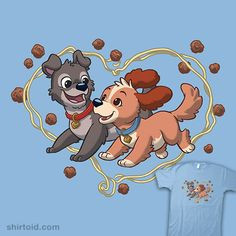 """""""Meatball Fans"""" by DoOomcat Inspired by Lady and the Tramp Disney Dogs, Baby Disney, Cute Photos, Cute Pictures, Day Of The Shirt, My Little Pony Twilight, Angel Wallpaper, Lady And The Tramp, Baby Cartoon"""