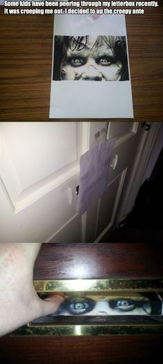 how to keep kids from peering through your letterbox