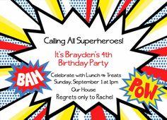 Superhero Thank You Card Superheroes Thank You Cards Marvel - Superhero birthday invitations templates free