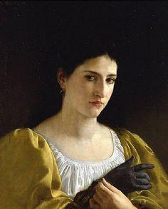 Senhora com luva, 1870 Adolphe William Bouguerreau (França, 1825-1905) óleo sobre tela