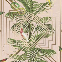 Eden Tropical Wallpaper Pink - Wallpaper from I Love Wallpaper UK Tree Wallpaper Pink, Pink Geometric Wallpaper, Art Deco Wallpaper, Wallpaper Uk, Tropical Wallpaper, Metallic Wallpaper, Paper Wallpaper, Animal Wallpaper, Textured Wallpaper