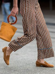 Loafers are having a moment, but this isn't your average office shoe. Think snake print, bold metallics and backless styles. Space Fashion, Work Fashion, New Fashion, Trendy Fashion, Fashion Outfits, Best Loafers, Fashion Design Template, Fashion Week 2018, Boho Fashion Summer