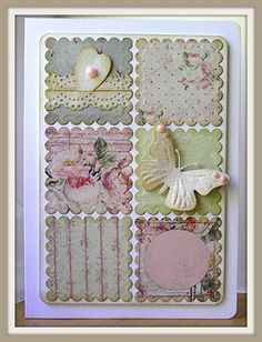 Simple card made with punches................Shabby Chic inking by: Chrissys4cards