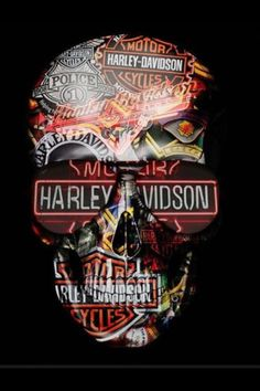None of these images are mine =) Harley Davidson Stickers, Harley Davidson Art, Casas Estilo Harry Potter, Family Crest, Stencil Art, Skull And Bones, Skull Art, Optical Illusions, Comic Art